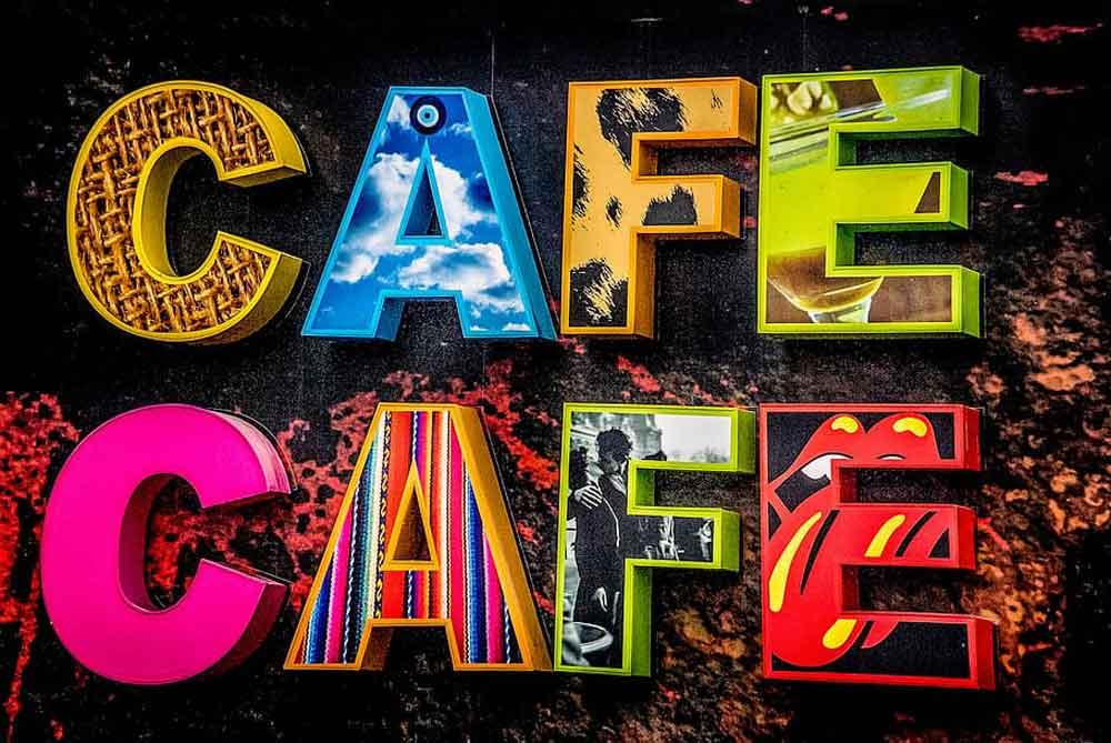 Autor N.N. | Zwei mehrfarbig | Cafe Schriftzüge