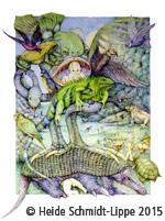Farbstiftzeichnungen: Vom Garten Eden zur Globalisierung© Heide Schmidt-Lippe